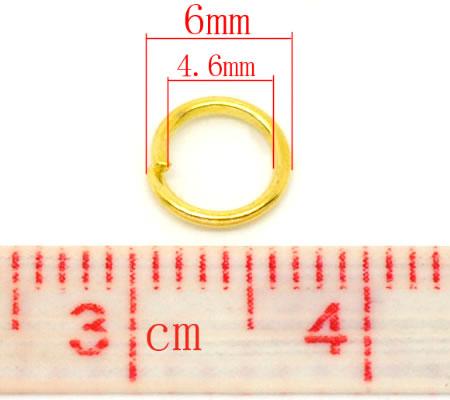 Open Ring Goudkleurig 6 mm