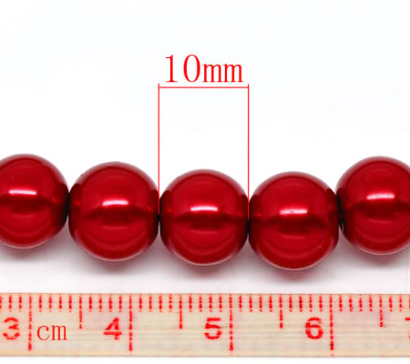 Glasparel Snoertje 10 mm Rood