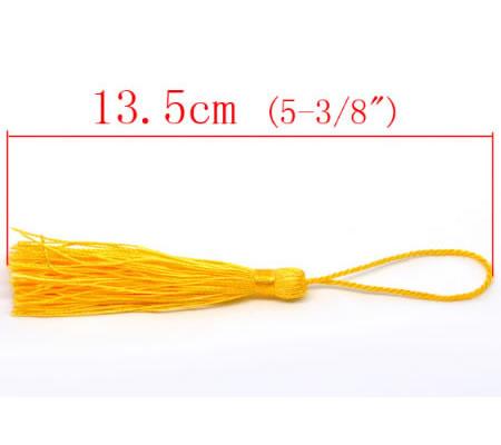 1x Kwastje Geel 14 cm