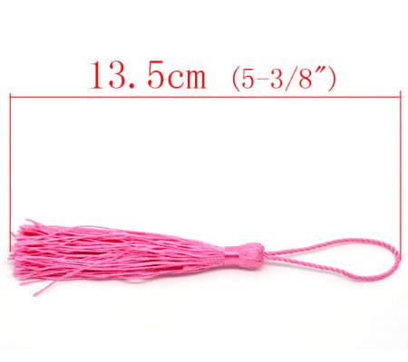 1x Kwastje Fuchsia 14 cm