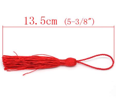 1x Kwastje Rood 14 cm
