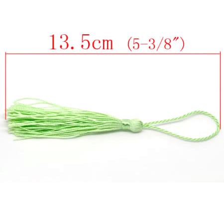 1x Kwastje 14 cm Pastel Groen