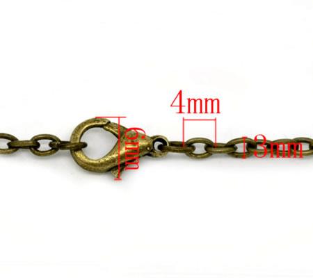 1x Ketting Brons met lobsterslotje 50 cm