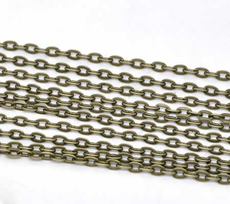 10 meter Ketting Brons 5 x 3 mm