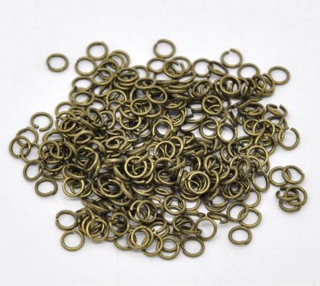 200 stuks Open Ring brons 5 mm