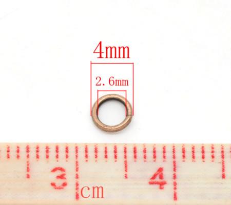 Open ring Roodkoper 4 mm