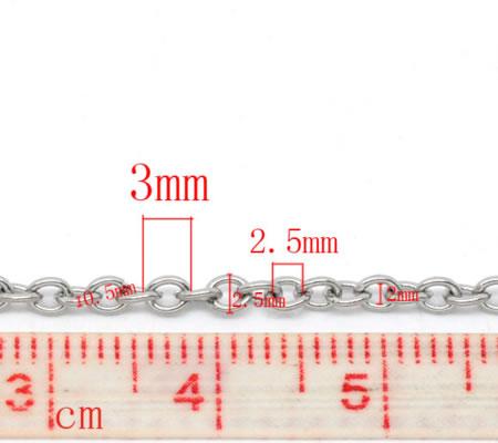 5 meter Roestvrijstalen  jasseron/ketting (304)