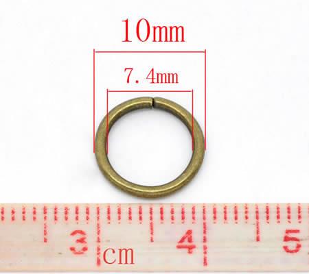 50 stuks Open Ring Brons 10 mm