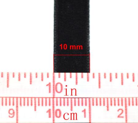 1 Meter Fluwelen Band Zwart 10 mm