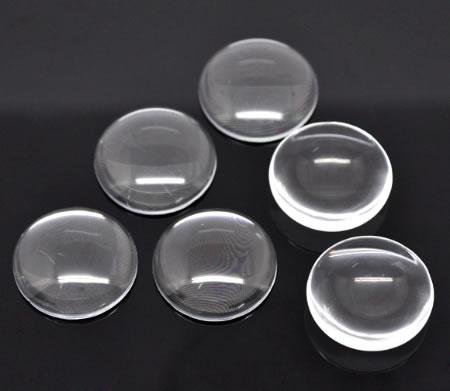 1 stuks glazen cabochon 30 mm