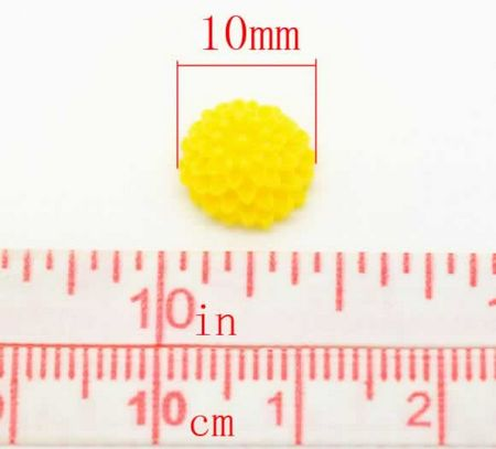 1x Cabochon Chrysant Wit