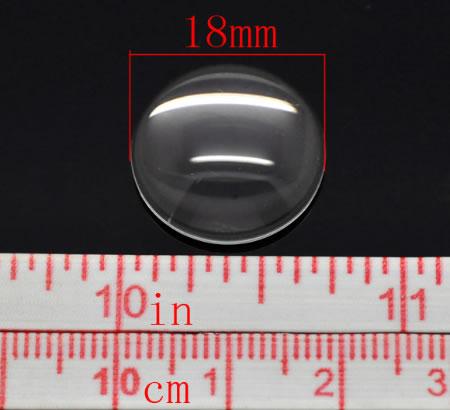 Glazen Cabochon rond 18 mm