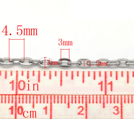 5 Meter Ketting Donker Zilver Ketting