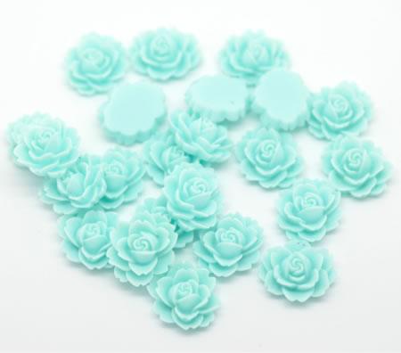 1 stuks kunsthars roosje Turquoise