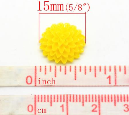 Cabochon chrysant Geel