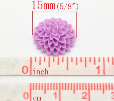 Cabochon chrysant Lila
