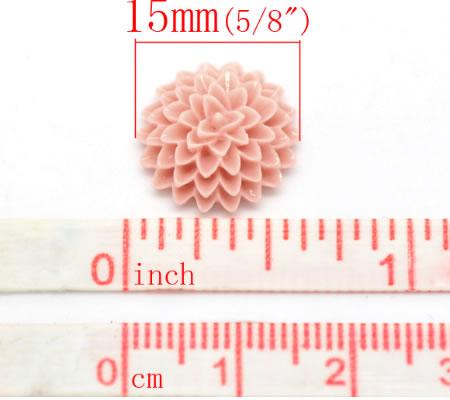 Cabochon chrysant Oud roze
