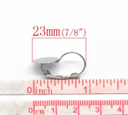1 paar oorbelhaakjes 12 mm plakvlak