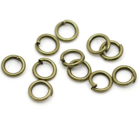 1000 stuks Open Ring brons