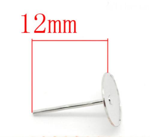 25 sets Oorbel plakstekertjes / plakvlak 8mm