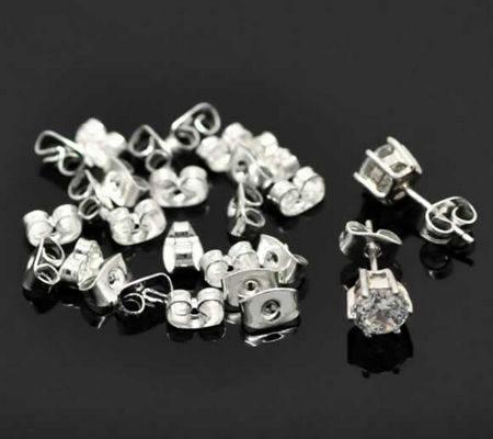 30 stuks stoppertjes licht zilverkleurig (15 paar)