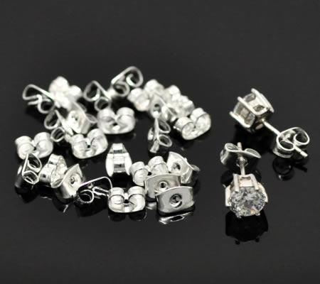 250 paar stoppertjes donker zilverkleurig