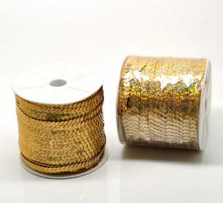 1 meter Paillettenband Goud
