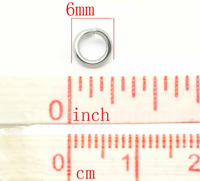 RVS Roestvrijstalen Jumpringen 6 mm