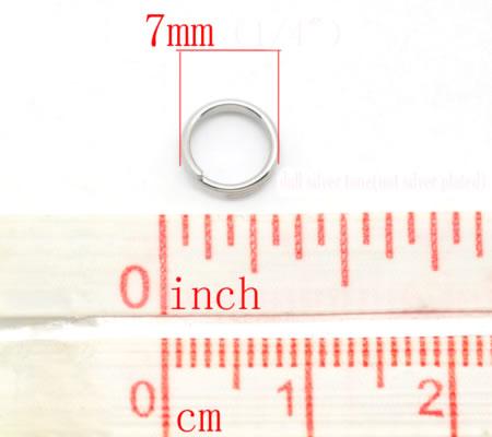 50x roestvrijstalen (304) Splitring 7 mm
