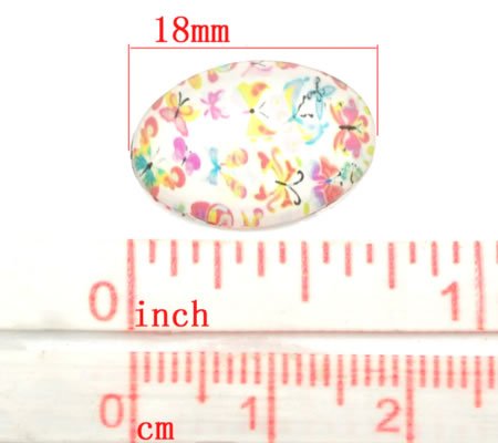 Glas Cabochon 18 x 13 mm