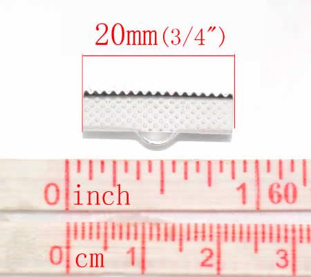 1x Koordklem Licht Zilver 20 mm