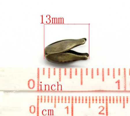 2x Kapjes Brons 10 mm