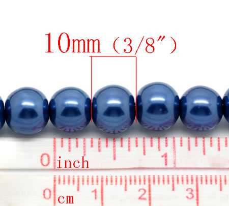 Glasparel Snoertje 10 mm Kobalt Blauw