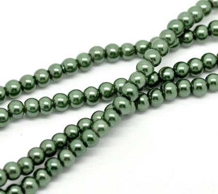 Snoertje Glasparel 6 mm Groen