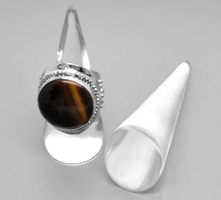 1x Standaardje voor ringen transparant