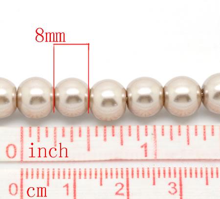 Snoertje Glasparel 8 mm Beige / Zand