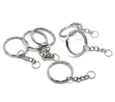 Sleutelhanger donker zilver