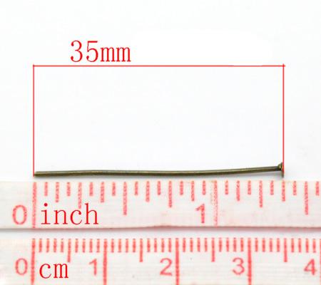 400x nietstiften Brons 35 mm / dikte 0.8 mm