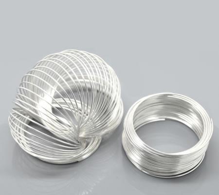 10 loops memorywire 5 cm Lichtzilver