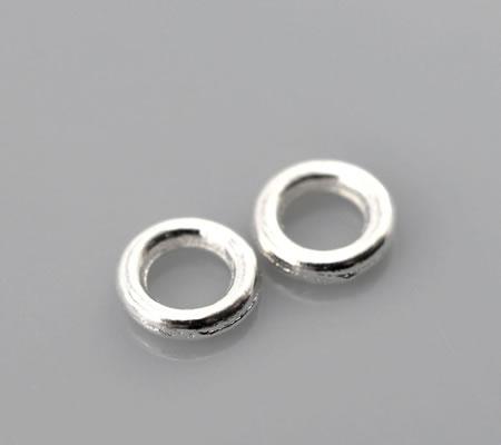500x Gesloten Ring Licht zilver 6 x 1.3 mm