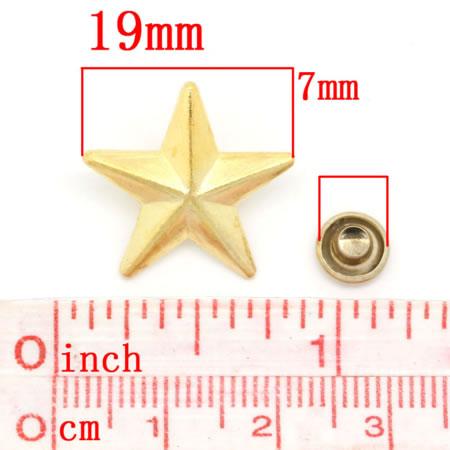 1x goudkleurige spike stervorm