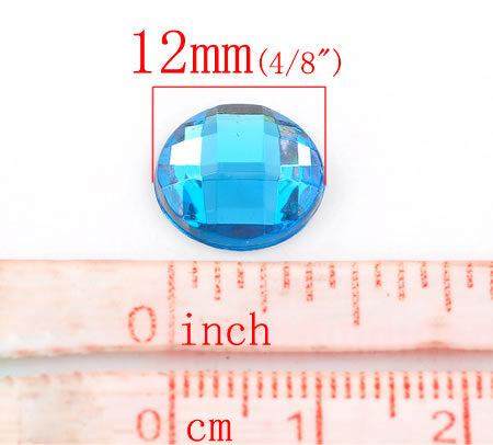1x Acryl Cabochon Facet Turquoise