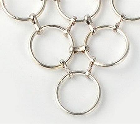10x Koordklem Donker zilver (klein)