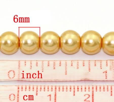 Snoertje Glasparel 6 mm goudgeel 150 stuks