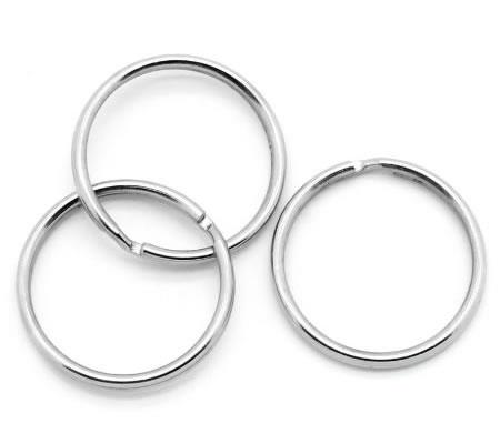 Splitring - Sleutelhanger donker zilver