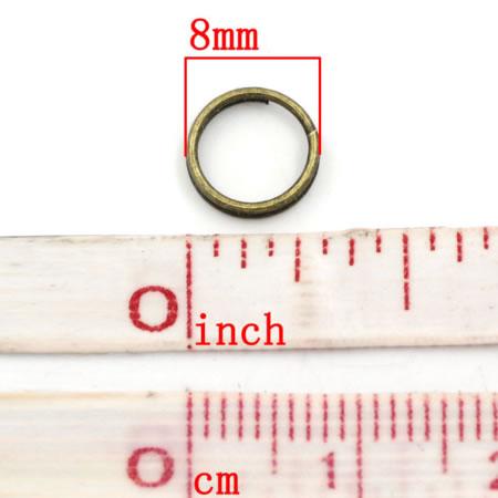 100x splitringen Brons 8 mm