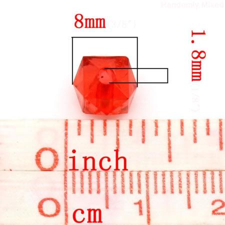 50 stuks Acryl mix Blokjes 8 mm