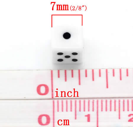 25x dobbelsteentjes kraal 8 mm