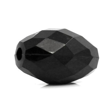 25x Grote Acryl Facet Kraal Zwart