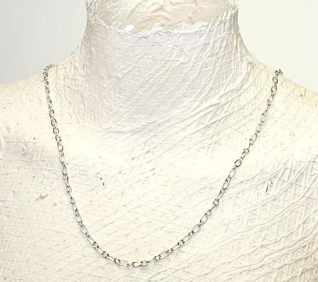 10 meter Donker Zilveren ketting Ovale schakel